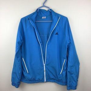 Adidas Vented Windbreaker Blue Large Jacket